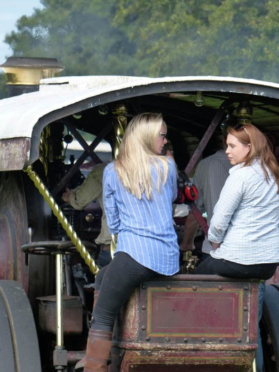 Not a typical traction engine crew...