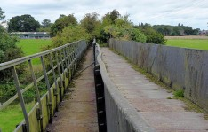 Iron trough and towpath