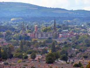 Shrewsbury's spires and towers