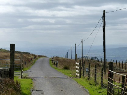 The road to Hay Bluff