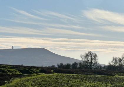 Wispy cloud over Titterstone Clee
