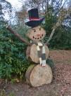 Woodman snowman