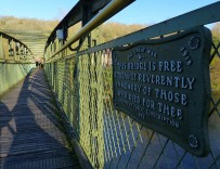 The memorial footbridge on Remembrance Sunday
