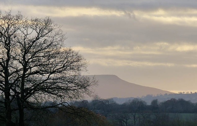 Last light over Titterstone Clee