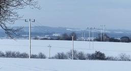 White poles