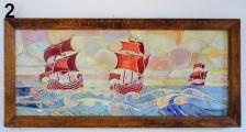 Ships at sea...