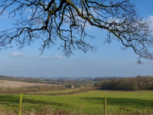 Looking down on Broseley