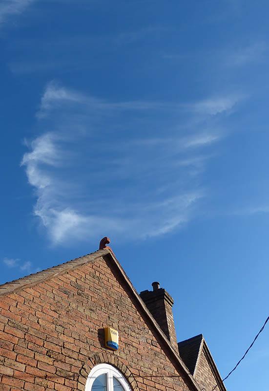 A wispy sky...