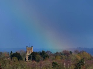 Rainbow over Sutton Maddock