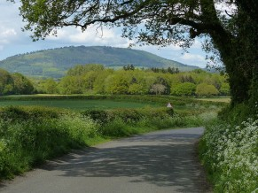 The road to the Wrekin