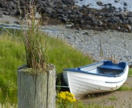 Port Gobhlaig's only boat