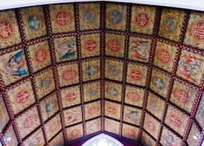 The Catholic church - a colourful ceiling