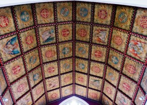 The Catholic church - a colourful ceiling