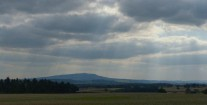 Sunbeams over Brown Clee