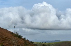 Cloud and distant hills
