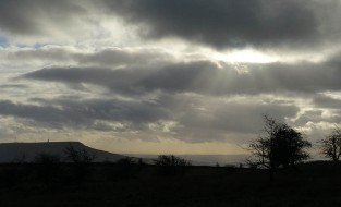 Sunbeams on Titterstone Clee