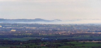Fog in north Shropshire