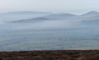 Misty border country