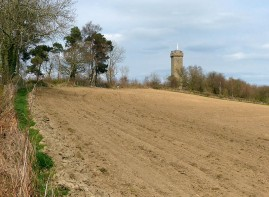 Tower and bare earth
