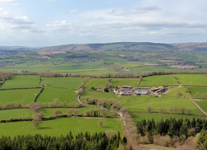 View from the top - Long Mynd