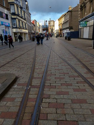 Old tramlines