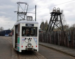 The tram at the mine
