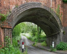Back under the old railway