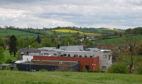 ...which overlooks the school