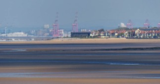 Distant Mersey docks