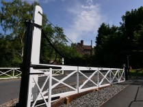 New gates at the level crossing