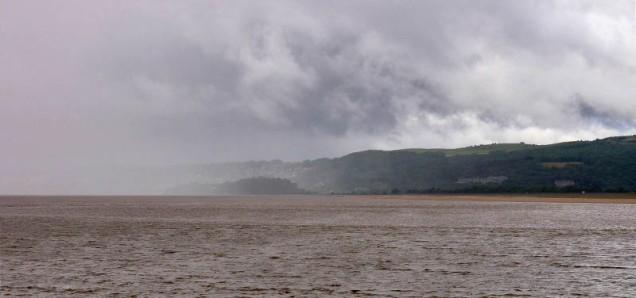 Arnside - a rainy arrival...