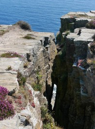 Clifftop chasm