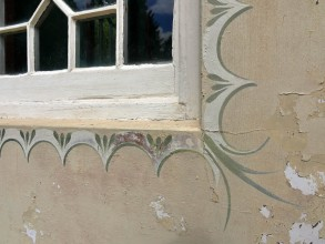 Painted plaster