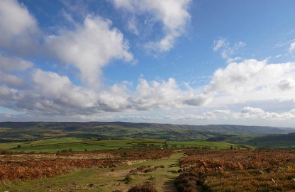 Look across to the Long Mynd