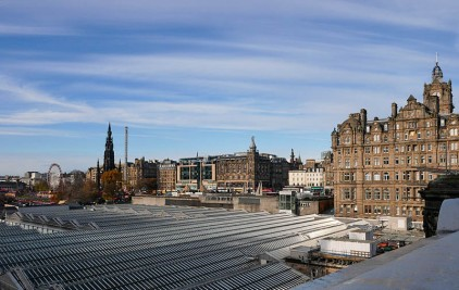 Waverley's roof and Princes Street