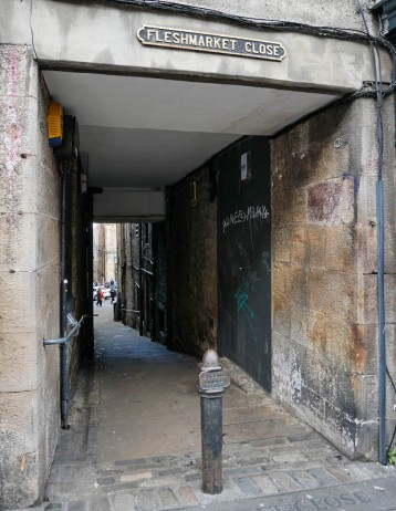 Fleshmarket Close (but Rebus is nowhere to be seen)