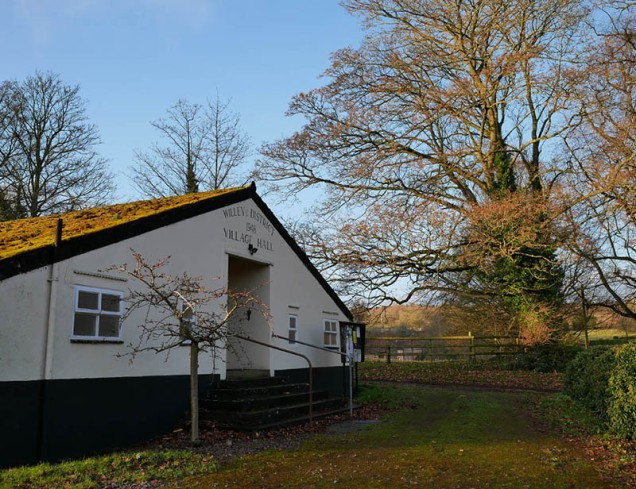 ... and the village hall