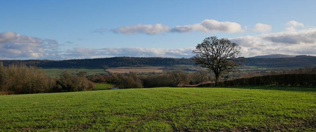 ...with views to Wenlock Edge