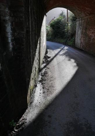 Under the railway