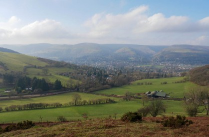Look down to Church Stretton