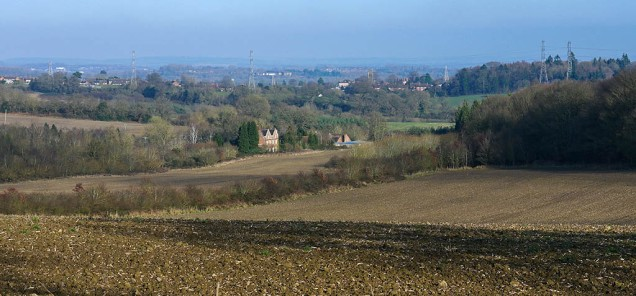 ...and look down on Broseley