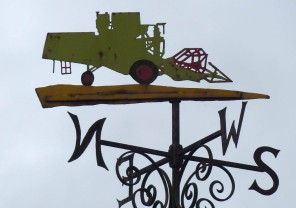 ...and its weather vane