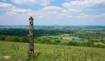 Old fence post - view to the Wrekin