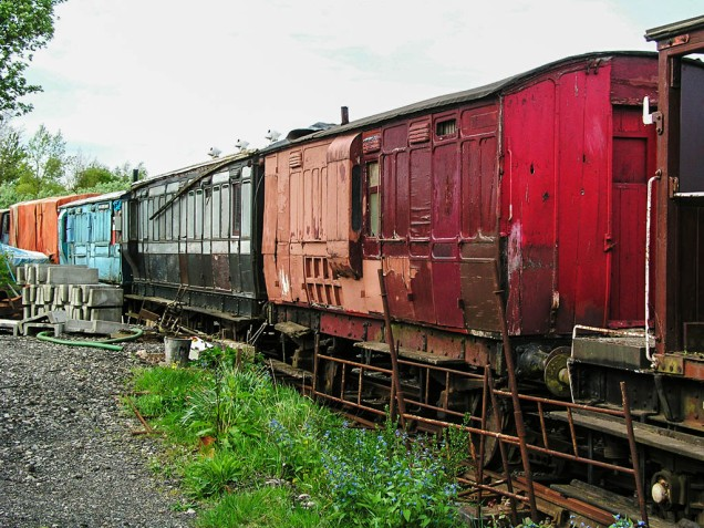 Chasewater historic carriages - awaiting restoration