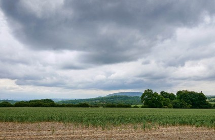 Grey skies over the Wrekin