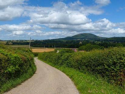 Wrekin: view from Belswardyne lane