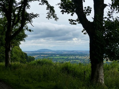 Almost back - view to the Wrekin