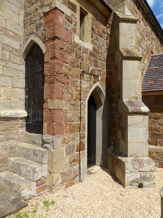 ...and a detail at the foot of the tower