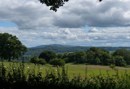 ... with a view to the Clee Hills
