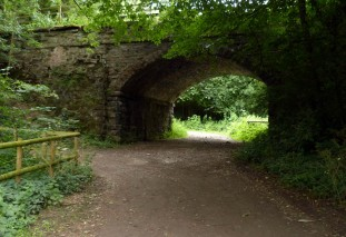 Under the old railway